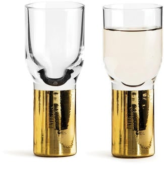 Sagaform Club Schnapsglas 2er Pack gold-farbend