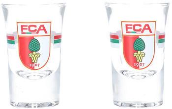 FC Augsburg Wappen Schnapsglas 3,4cl 2er Set FCA_Schnaps2344-01