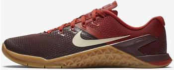 Nike Metcon 4 burgundy crush/dune red/gum light brown/light cream