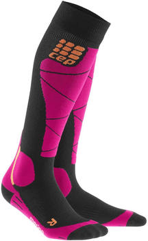 CEP Ski Merino Socks Women bkack/pink