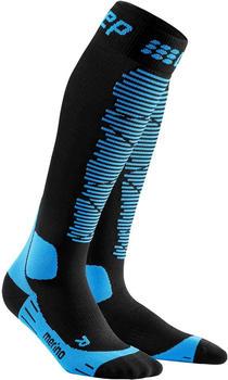 CEP Ski Merino Socks Men black/blue
