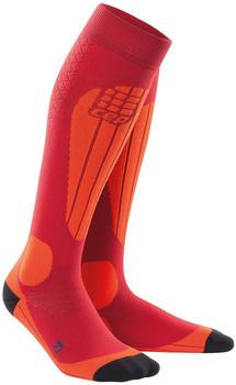 CEP Ski Merino Socks Women cranberry/orange