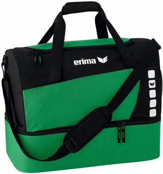 Erima Club 5 Sporttasche mit Bodenfach M smaragd/schwarz