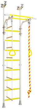 Wallbarz Sprossenwand Family 4D (EG-KSK-004) weiß/gelb
