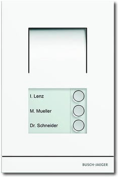 Busch-Jaeger Busch-Welcome Außenstation Audio 3-fach weiß