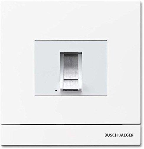 Busch-Jaeger 83100/70-664 Außenstation mit Fingerprint-Modul studioweiß matt