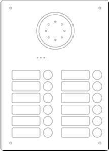 Ritto Acero Edelstahl-Türstation 18123/20