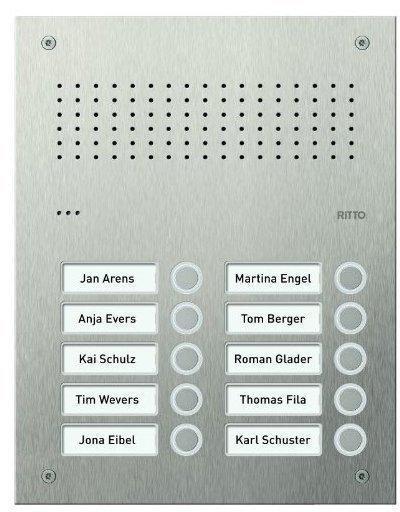 Ritto Acero pur Edelstahl-Türstation Audio (RGE1812225)