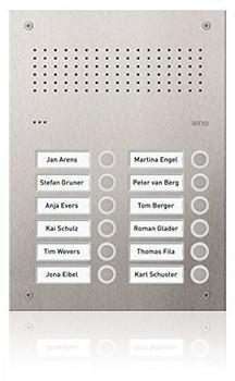 Ritto Acero pur Edelstahl-Türstation Audio (RGE1812325)
