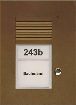 TCS Tür Control Audio Außenstation PUK 1 Taste 1spaltig UP bronze