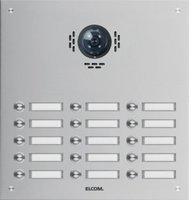 Elcom 1115182BTC TVG-15/3 Türstation für Kamera-Türlautsp.15/3 Rund-Taster UP Edelst.