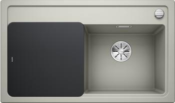 Blanco Zenar 45 S Silgranit PuraDur mit Glasschneidbrett Becken rechts, perlgrau, 523712