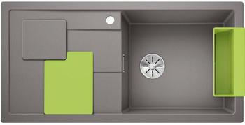 Blanco Sity XL 6 S Spüle B: 100 T: 50 cm, Becken rechts aluminium metallic, Zubehör-Set kiwi 525062