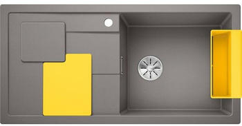 Blanco Sity XL 6 S Spüle B: 100 T: 50 cm, Becken rechts aluminium metallic, Zubehör-Set lemon 525054