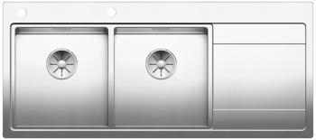 blanco-divon-ii-8-s-if-spuele-521664-116-x-51-cm-edelstahl-seidenglanz-links-ablauffernbedienung-mit-drehbetaetigung