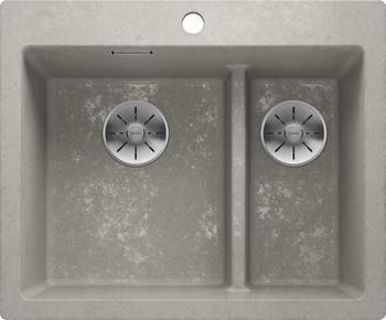blanco-pleon-6-split-spuelbecken-fuer-die-kueche-spuele-aus-silgranit-beton-style