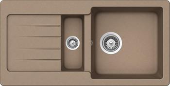 Schock Typos D-150S-A Granitspüle mit Ablauffernbedienung, Cristalite, reversibel, Cascada (TYPD150SACSC)