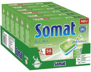 Somat All in 1 Pro Nature Spülmaschinen-Tabs (6 x 56 Stk.)
