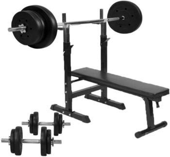 gorilla-sports-hantelbank-inkl-70-kg-hantelset