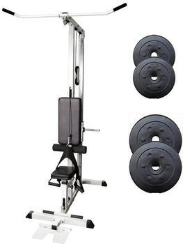 ScSPORTS 30 kg Scheibenset mit Latzugturm