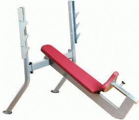 Ergo-Fit Olympic Incline Bench 4000 bordeaux