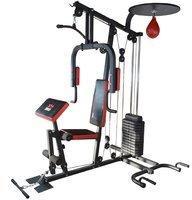 TrainHard HomeGym inkl. 65 kg Gewichte, Speedball-Plattform und Push-Up Bar