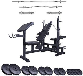ScSPORTS Profi-Trainingsbank inkl. 80 kg Gewichte Set