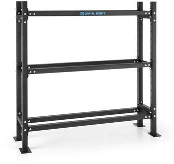 capital sports Traytor B Storage Rack Gewichtsregal 3 Ebenen Stahl schwarz