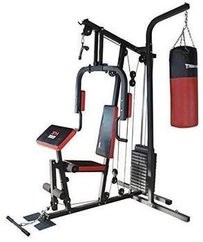TrainHard HomeGym inkl. 65 kg Gewichte, Boxsackhalterung und Boxsack 80 cm
