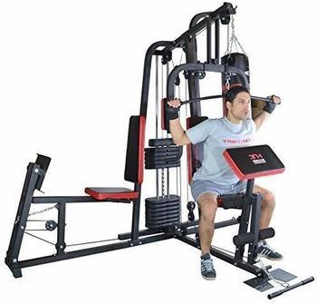 TrainHard HomeGym inkl. 65 kg Gewichten und Beinpresse