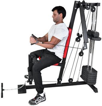 TrainHard Mini Kraftstation Home Gym inkl. 45kg Gewichten
