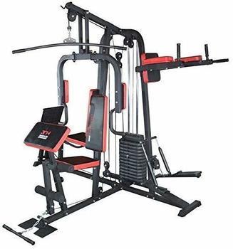 TrainHard HomeGym inkl. 65 kg Gewichten, Beinpresse, Dipstation, Beinhebe und Stepper
