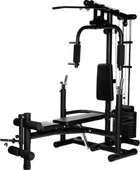 Gorilla Sports Extended Home Gym schwarz