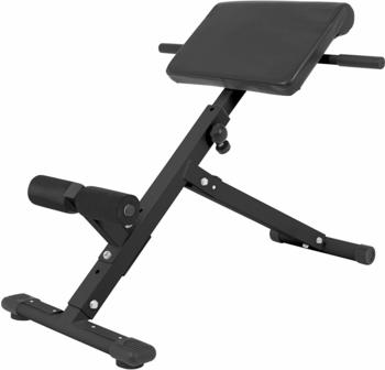 Gorilla Sports GORILLA SPORTS® Rückentrainer klappbar Hyperextension - Bauchtrainer mit gepolsterter Beinfixierung Schwarz