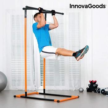 InnovaGoods Klimmzug- und Fitnessstation inkl. Übungsanleitungen schwarz/orange