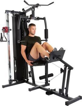 Hammer Kraftstation FERRUM TX4, 12 Gewichtsblöcke, Beinpresse u. separatem Rückentrainer schwarz