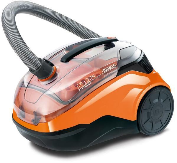 Thomas Cyclool Hybrid Family & Pets Bodenstaubsauger schwarz orange
