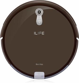 ilife-a8-saugroboter-automatischer-roboterstaubsauger-ideal-fuer-tierhaare-laminatboden-und-teppich-mit-ladestation72mm-flach-beutellosauto-resume-timer-braun