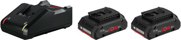 Bosch Starter-Set 2 x ProCORE18V 4.0Ah + GAL 18V-40 Professional