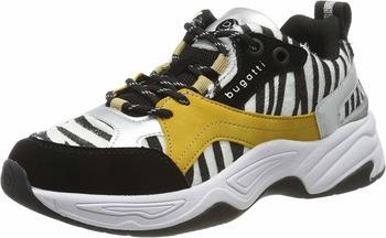 bugatti-damen-432755015969-sneaker-schwarz-black-animal-print-1082-37-eu
