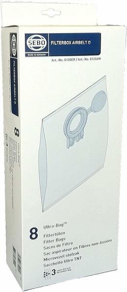 Sebo Filterbox D 8120 für Sebo airbelt D inklusive 8 Ultra-Bag Elektret-Filtertüten 4-lagig mit Filterdeckel
