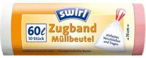 Swirl Zugband-Müllbeutel 60 L (10 Stk.)