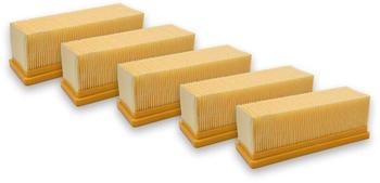 vhbw 5x Flachfaltenfilter Filter Mehrzwecksauger Kärcher 2501, 2501 TE, 2601, 2601 plus, 2701, 2701TE, 2801, 2801 plus, 3001, 3001 hot wie 6.414-498.0 Vhbw