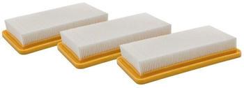 vhbw 3x Filter Motorschutz für Staubsauger Kärcher DS-5500, DS-5600, DS5500, DS5600, K-5500, K5500 wie 6.414-631.0, 6.414-631.
