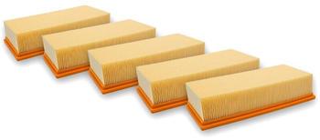 vhbw 5x Flachfaltenfilter Lamellenfilter Filter Set für Staubsauger, Nass-/Trockensauger, Mehrzwecksauger, Waschsauger wie Kärcher 6.904-283, 6904283