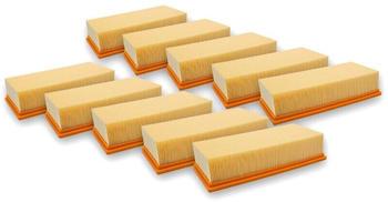 vhbw 10x Flachfaltenfilter Lamellenfilter Filter für Staubsauger, Nass-/Trockensauger, Mehrzwecksauger, Waschsauger wie Kärcher 6.904-283.0, 69042830