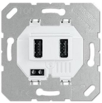 Jung USB-Ladesteckdose USB3-2WW