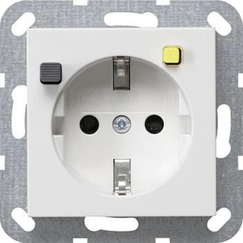 Gira FI-Schutzsteckdose 30 mA SH - reinweiß glänzend (267703)
