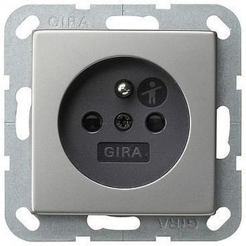 Gira 1-fach + SH - edelstahl (485600)