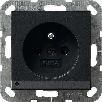 Gira 1-fach LED-Leuchte + SH - weiß, schwarz matt (1172005)